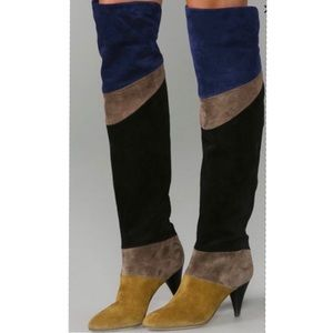 Loeffler Randall Suede over the knee boots
